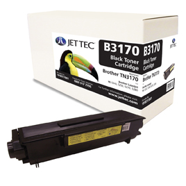 Jet Tec B3170 remanufactured Brother TN3170 laser toner cartridges