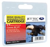Jet Tec C1 Black remanufactured Canon BC01 inkjet printer cartridges