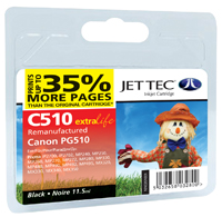 Jet Tec C510 remanufactured Canon PG 510 black ink cartridges