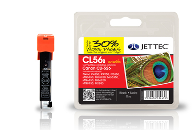 Jet Tec CL56B compatible Canon CLI 526 printer ink cartridges