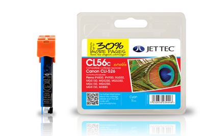 Jet Tec CL56C compatible Canon CLI 526 printer ink cartridges