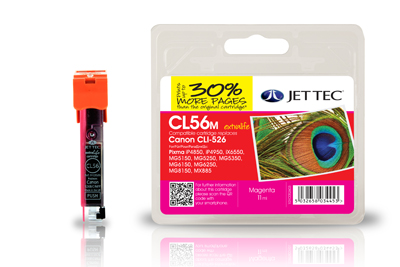 Jet Tec CL56M compatible Canon CLI 526 printer ink cartridges