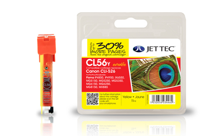 Jet Tec CL56Y compatible Canon CLI 526 printer ink cartridges