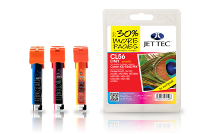 Jet Tec CL56CMY compatible Canon CLI 526 printer ink cartridges