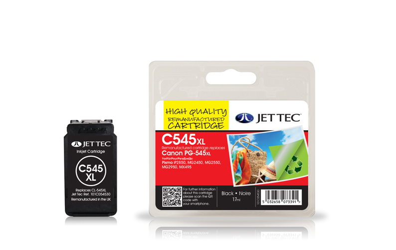 Jet Tec C545XL remanufactured Canon CL-545XL ink cartridges