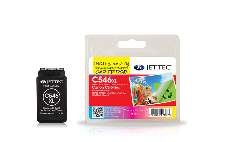 Jet Tec C546XL remanufactured Canon CL-546XL ink cartridges