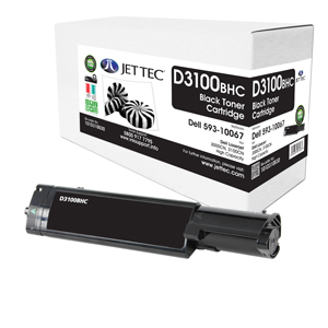 Jet Tec D3100BHC remanufactured Dell 593-10067 laser cartridges