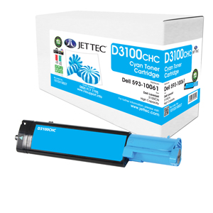 Jet Tec D3100CHC remanufactured Dell 593-10061 toner cartridges