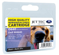 Jet Tec D640 black remanufactured Dell M4640 inkjet printer cartridges