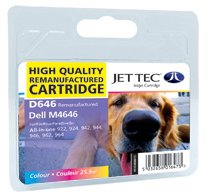 Jet Tec D646 colour remanufactured Dell M4646 ink printer cartridges