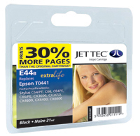 Jet Tec E44B black compatible Epson T0441 inkjet printer cartridges