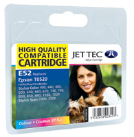Jet Tec E52 compatible Epson T052 colour ink printer cartridges