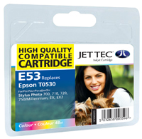 Jet Tec E53 compatible Epson T053 colour ink printer cartridges