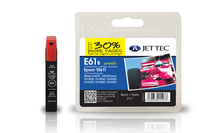 Jet Tec E61B black remanufactured Epson T0611 inkjet printer cartridge