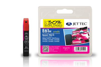 Jet Tec E61M magenta remanufactured Epson T0613 printer ink cartridges
