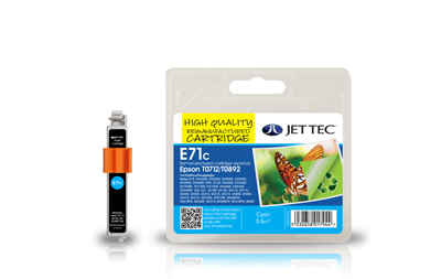 Jet Tec E71C cyan remanufactured Epson T0712 inkjet printer cartridges