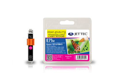 Jet Tec E71M magenta remanufactured Epson T0713 printer ink cartridges