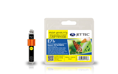 Jet Tec E71Y yellow compatible Epson T0714 inkjet printer cartridges