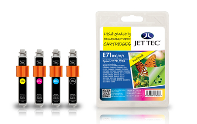 Jet Tec E71MP multipack remanufactured T0715 inkjet printer cartridges