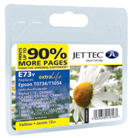 Jet Tec E73Y yellow compatible Epson T0734 inkjet printer cartridges