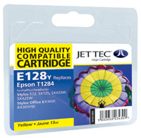 Jet Tec E128Y remanufactured yellow Epson T1284 ink printer cartridges