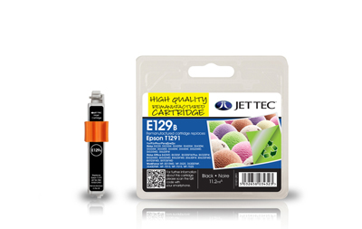 Jet Tec E129B remanufactured black Epson T1291 ink printer cartridges