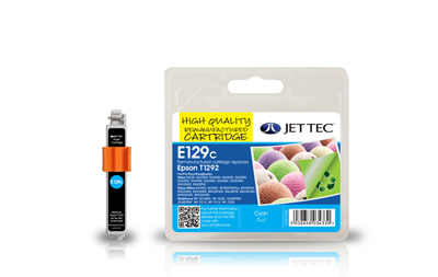 Jet Tec E129C remanufactured cyan Epson T1292 inkjet printer cartridge