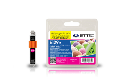 Jet Tec E129M remanufactured magenta Epson T1293 ink printer cartridge