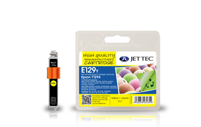 Jet Tec E129Y remanufactured yellow Epson T1294 ink printer cartridges