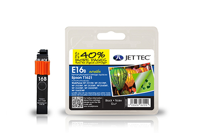 Jet Tec E16BXL remanufactured black Epson T1621 inkjet printer cartridges