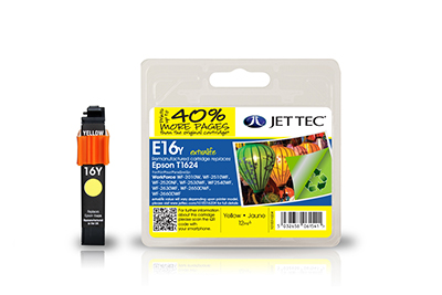 Jet Tec E16YXL remanufactured yellow Epson T1624 inkjet printer cartridges