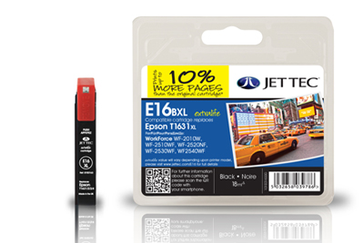 Jet Tec E16CXL compatible cyan Epson T1612 inkjet printer cartridges