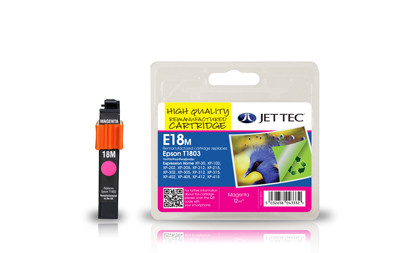 Jet Tec E18M remanufactured magenta Epson T1803 ink printer cartridge