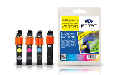 Jet Tec E18MP remanufactured Epson T1806 inkjet printer cartridges