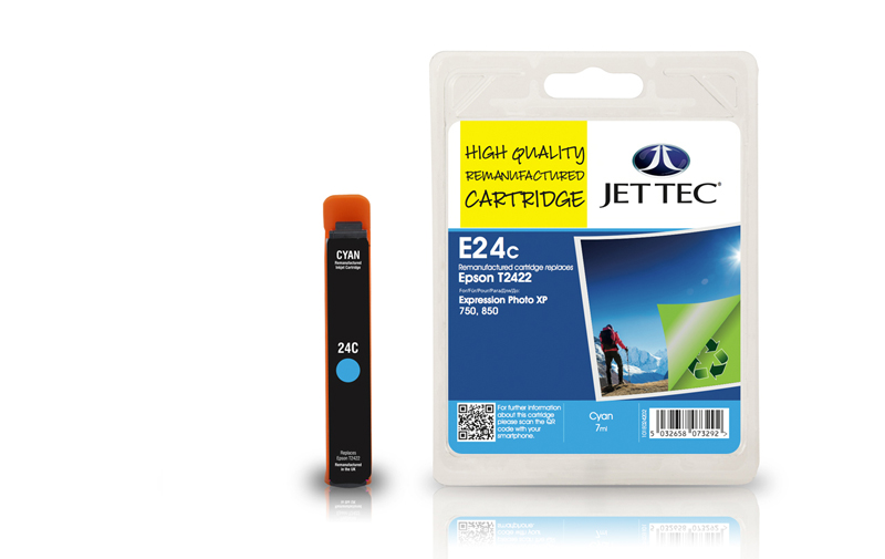 Jet Tec E24C remanufactured Epson T2422 ink cartridges