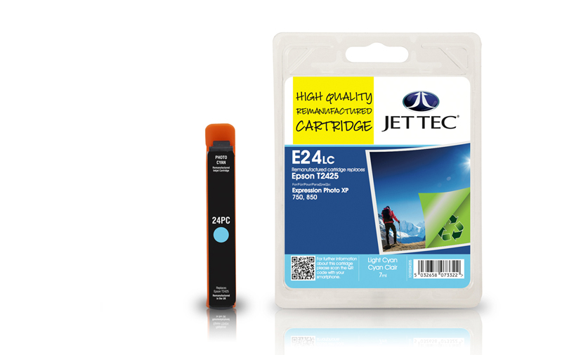 Jet Tec E24LC remanufactured Epson T2425 ink cartridges