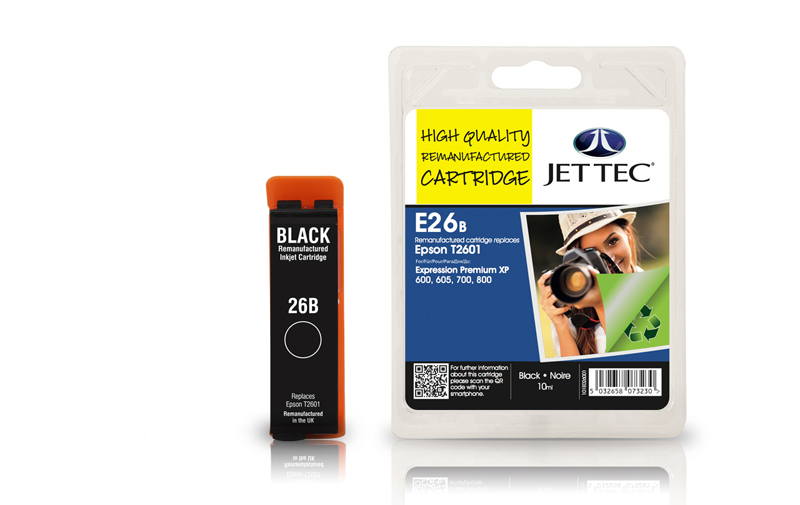 Jet Tec E26B remanufactured Epson T2601 ink cartridges