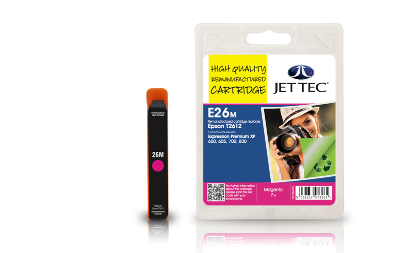 Jet Tec E26M remanufactured Epson T2613 ink cartridges