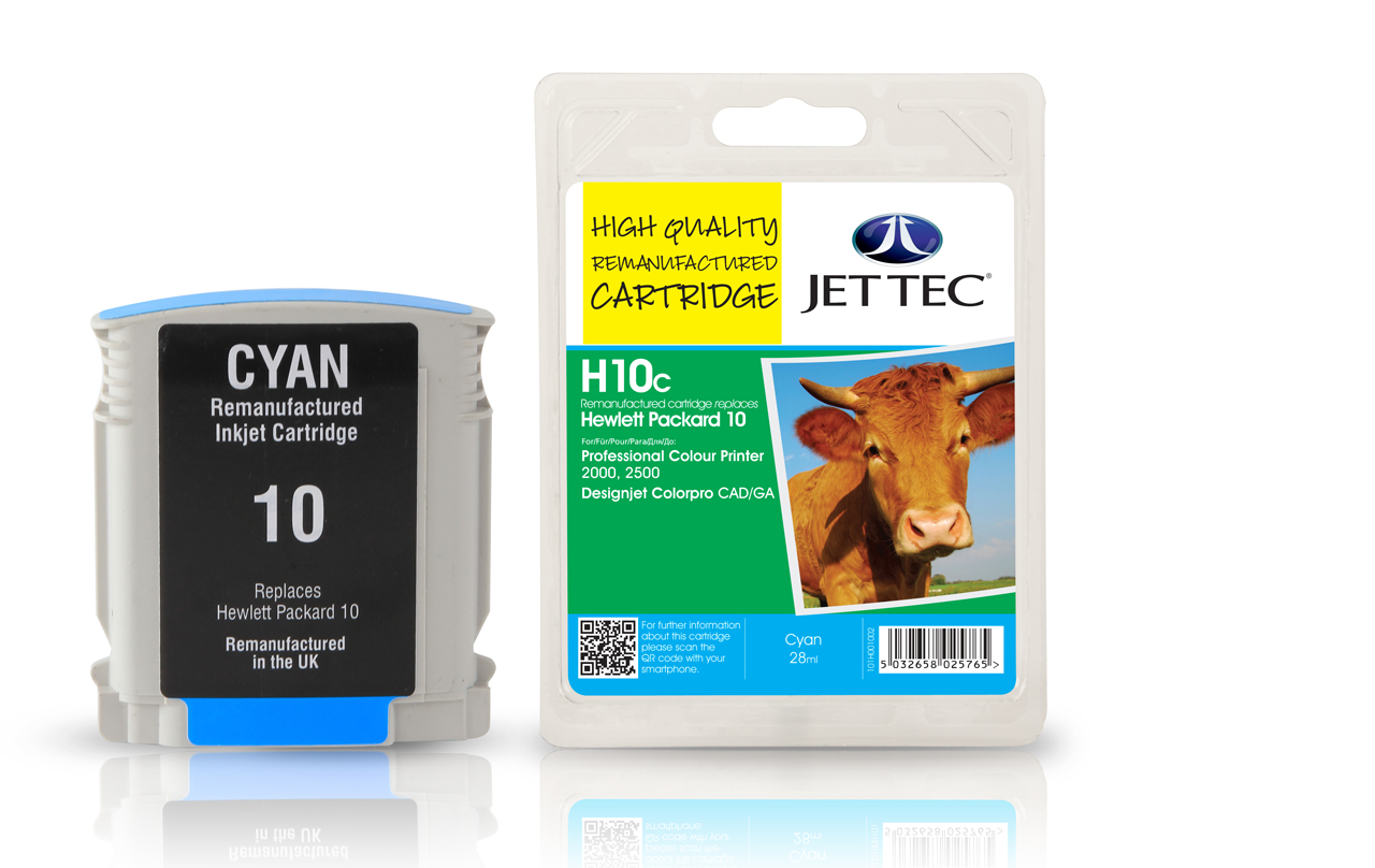 Jet Tec H10C Remanufactured HP10 C4841A ink cartidges
