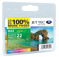 Jet Tec H22 remanufactured Colour HP22 C9352 inkjet printer cartridges