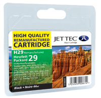 Jet Tec H29 remanufactured black HP 51629 inkjet printer cartridges