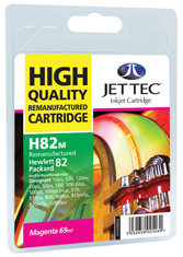 Jet Tec H82M remanufactured magenta HP82 C4912A ink printer cartridge