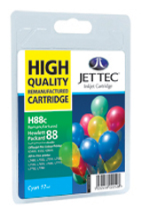 Jet Tec H88C remanufactured cyan HP88 C9391 inkjet printer cartridges