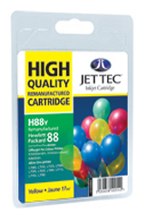 Jet Tec H88Y remanufactured yellow HP88 C9393 inkjet printer cartridge