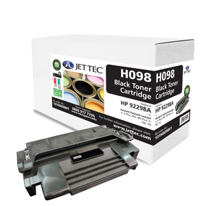 Jet Tec H098 remanufactured HP92298A laser toner printer cartridges