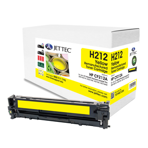 Jet Tec H212 Remanufactured HP CF212A Laser Toner Printer Cartridges