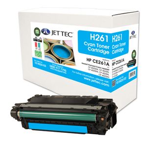 Jet Tec H261 remanufactured cyan HPCE261A laser printer cartridges