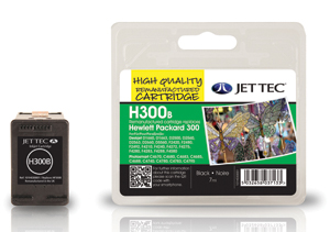 Jet Tec H300B remanufactured black HP300XL CC640EE inkjet cartridges