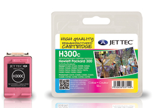 Jet Tec H300C remanufactured colour HP300XL CC643EE inkjet cartridges