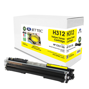 Jet Tec H312 remanufactured yellow HPCE312A laser toner cartridges